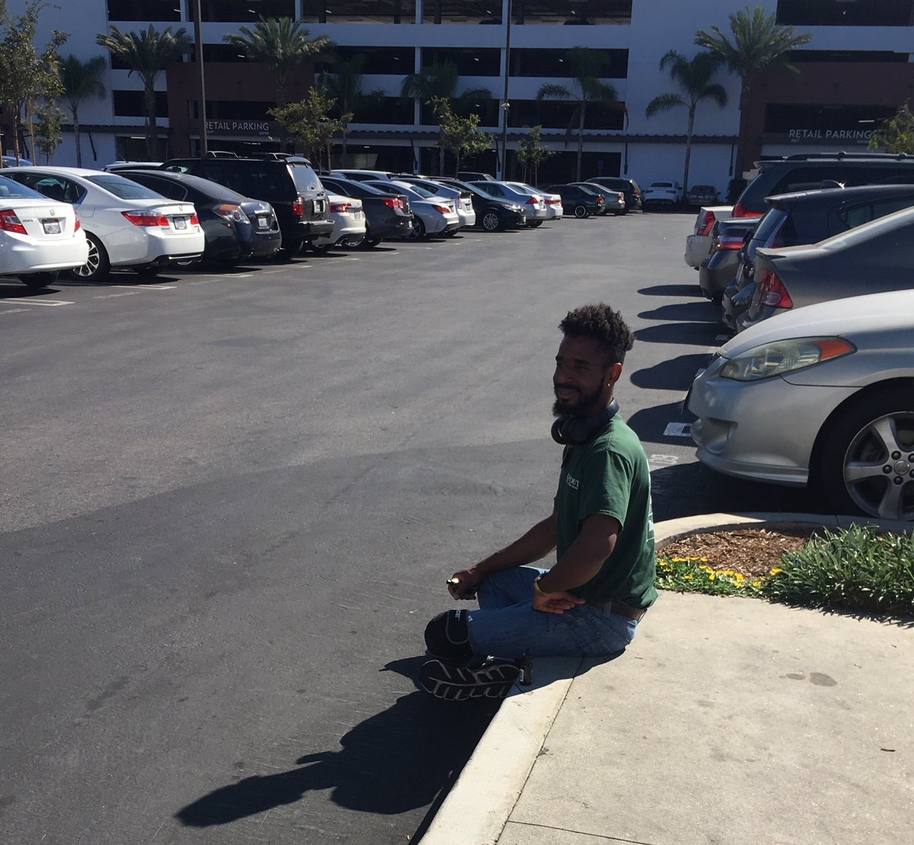 Meditating in the Parking Lot!